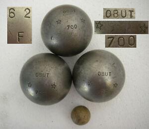 OBUT 700 2 étoiles 62F Ø75mm Triplette compétition 3 boules de pétanque