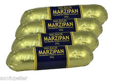 4 Bars WALBAUR'S MARZIPAN Covered in Dark Chocolate 4x200g