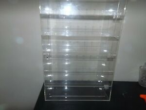 """Acrylic Display Case - 1/18 Scale (Dimensions 24"""" x 15.5"""" x 7.5"""") 6 Slots Used"""