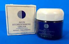 Avon Hydrofirming Cream Night Treatment Net Wt. 2.1 Oz. Nos Glass Jar