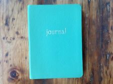 """Graphic Image Green Leather Blank Soft Cover Journal 224 page 5.5""""x8"""