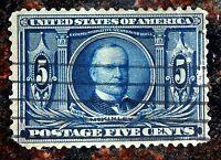 Beautiful 1904 Louisiana Purchase McKinley 5 Cent Used Stamp Scott# 326 J48