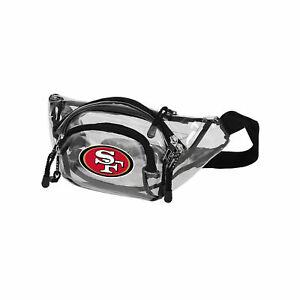 """San Francisco 49ers Transport Clear Belt Bag 13""""x 5"""" Licensed Phanny Pack"""