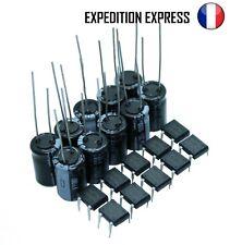 Kit 5-10 Condensateurs 1000μF + Ponts de Diodes DB-104 pour Eclairage Wagons HO