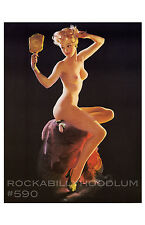 Pin Up Girl Poster 11x17 beautiful blonde figure study retro