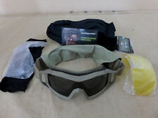 NEUF-US révision wolfspider Goggles Système Kit Tan W/BAG/Balistique Lunettes