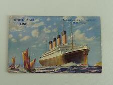 (ref165WST  I) Olympic White Star Line Postcard Titanic Interest