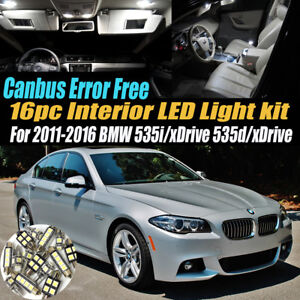 16Pc CANbus Error Free Interior LED White Light Kit for 11-16 BMW 535i/d/xDrive