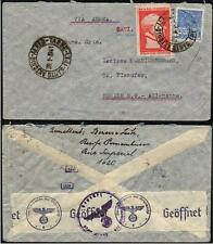 Brasilien Brief Luftpost MiNr.: 526, 531 Santo Antonio - Berlin geöffnet OKW