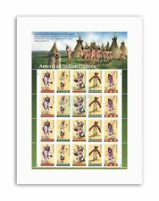 POSTAGE STAMPS AMERICAN INDIAN NATIVE DANCE USA Canvas art Prints