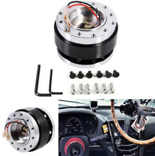 6-Hole Auto Car Steering Wheel Quick Release HUB Adapter Snap Off Boss kit Black