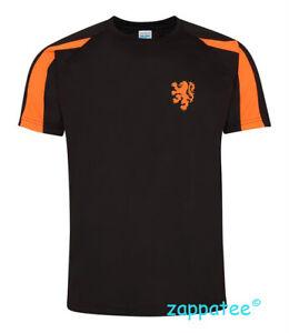 Netherlands T Shirt - Black and orange contrast Holland Tee