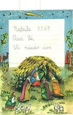 LETTERINA DI NATALE 1968 con Brillantini