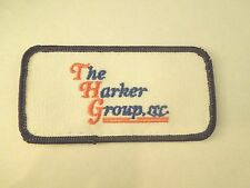 Vintage The Harker Group Inc. Company Logo Iron On Patch