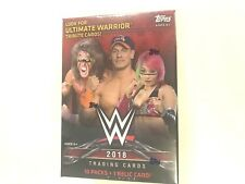 2018 TOPPS WWE BLASTER  BOX ( 10 PACKS + 1 RELIC CARD )