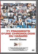 DVD ZONE 2--71 FRAGMENTS D'UNE CHRONOLOGIE DU HASARD--MICHAEL HANEKE