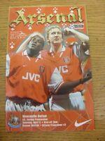 11/04/1998 Arsenal v Newcastle United [Double Season] . Footy Progs/Bobfrankande
