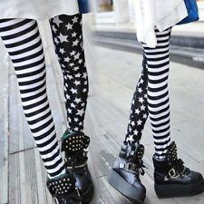 Women Stripe+Stars Skinny Leggings Elastic Waist Stretch Pencil Pants Jeggings