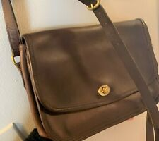 VINTAGE COACH CITY BAG CROSSBODY STYLE BROWN LEATHER 9790