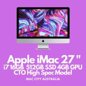 Apple 27 inch iMac 5K Retina *4Ghz i7 16GB 512 SSD 4GB GPU* High Spec Video Rig