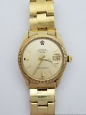 Superior Rolex Oyster Perpetual 14k Gold 1503  Riveted Band Fancy Dial Watch