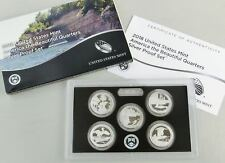 USA Quarter America the Beautiful - Silber / AG proof / PP set 2018 5x25 Cents