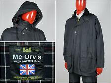 Mens Vintage 90s Mc Orvis Waxed Jacket Blue Wax Size M
