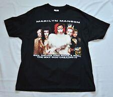 "Marilyn Manson ""Rock is Dead Tour Shirt 1999"" Winterland Vintage Never Worn"