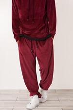 "Parish Nation - Burgundy Velour Jogger Sweatpants ""NWT""Size Medium Supreme Yeezy"