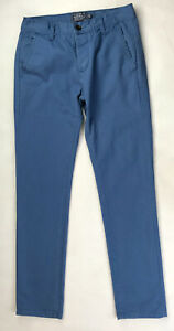 TOPMAN Navy Skinny Chinos Cotton W30 L32 Button Fly