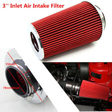 Performance Air Filter 3'' Inlet Cold Air Intake Filter Cone Filter Long Ram Red