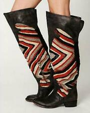 RARE SZ 7 $495 FREEBIRD BY STEVEN CABALLERO OTK OVER THE KNEE BOOTS WOOL BLANKET