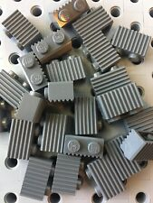 Lego Dark Gray Grey 1x2 Grill Profile Brick Wall Modular Buildings Castle 25pcs