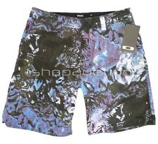 Oakley Sultan Neon Blue Size 34 Boardies Mens Boys Surf Swim Beach Board Shorts
