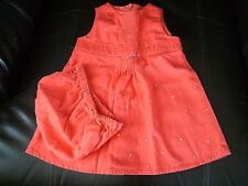 Gymboree Sugar Cookie Jumper Dress w/ Matching Diaper Cover, Size 3-6months