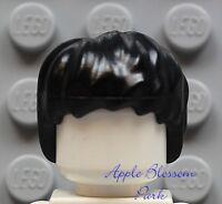 NEW Lego Boy/Girl Minifig BLACK HAIR - Harry Potter Hulk Short Tousled Head Gear