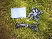 SOLAR PANEL AND 92MM FAN KIT FOR CAMPER VAN FRIDGE VENTILATION,HELPS KEEP COOL