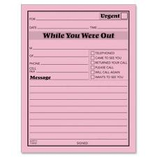 "Adams Message Pad ""While You Were Out"" 4""x5"" 50 Shts/PD 12/PK PK 9711D"