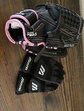 "Mizuno GPP 1153 11 1/2"" Power Close Leather RH Baseball Glove & Batting Gloves"