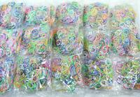 Lot de 12000 élastique RAINBOW FANCY LOOM Multicouleur Fluo pour bracelets 15mm