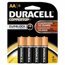 Duracell Coppertop AA Alkaline Batteries 1.5 Volt 4 Each