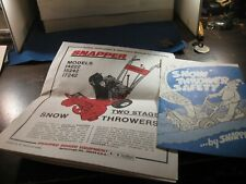Snapper Snow Thrower 1422 15242 17242 Operator Manual