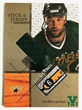 2003-04 ITGU Signature Series Stick & Jersey Gold Bill Guerin Vault Green 1/1