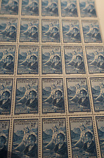 SHEET SHEET œUVRES SOCIAL STUDENT No.417 x25 1938 NEW LUXE MNH SIDE