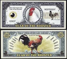 Year of the Rooster Million Dollar Bill Collectible Funny Money Novelty Note