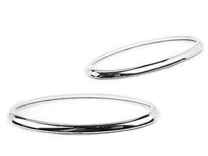 Chrome Side Indicator Marker Light Rings Trim For Jaguar XK XKR XK8 S-Type