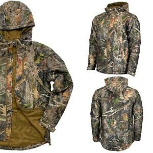 Mens Camouflage Insulated Outdoor Hunting Fishing Jacket Camo Coat