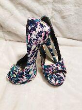 *New* Floral Multicolor Lily Platform Heels