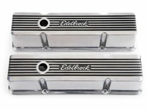 Edelbrock Engine Valve Cover Set fits Chevy C20 Suburban 1968-1986 36PTKJ