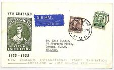 Vv292 1953 New Zealand Auckland London Gb England Cover {samwells-covers}